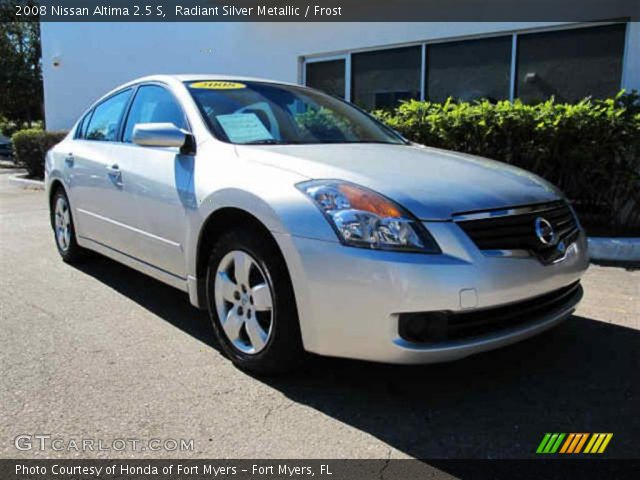 radiant silver metallic 2008 nissan altima 2 5 s frost. Black Bedroom Furniture Sets. Home Design Ideas