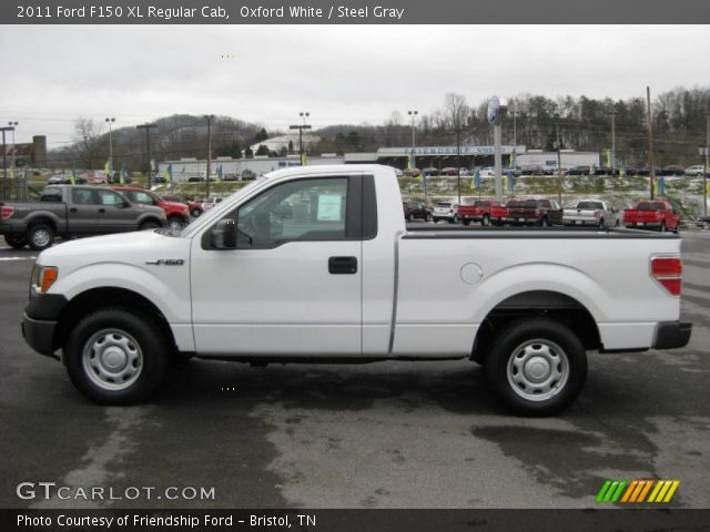 oxford white 2011 ford f150 xl regular cab steel gray interior vehicle. Black Bedroom Furniture Sets. Home Design Ideas