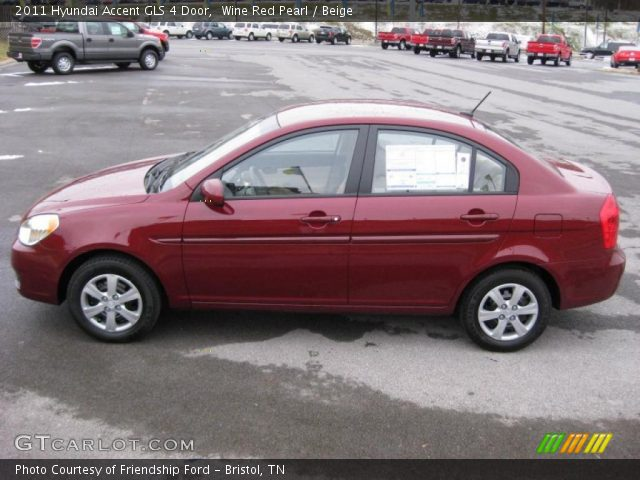 Wine Red Pearl 2011 Hyundai Accent Gls 4 Door Beige Interior Gtcarlot Com Vehicle Archive 41631428