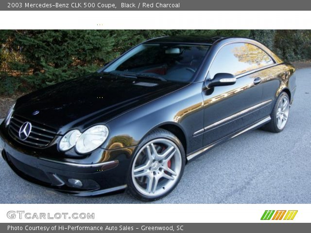 Black 2003 Mercedes Benz Clk 500 Coupe Red Charcoal