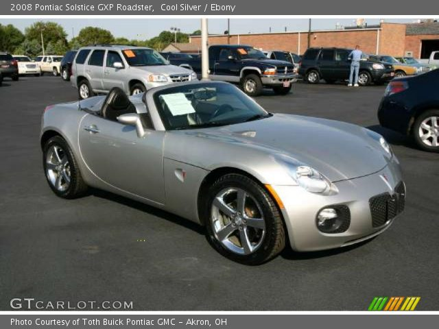 cool silver 2008 pontiac solstice gxp roadster ebony. Black Bedroom Furniture Sets. Home Design Ideas