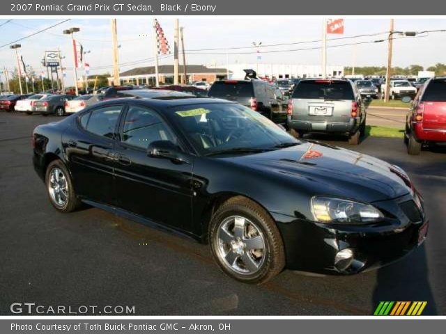 black 2007 pontiac grand prix gt sedan ebony interior vehicle archive 41790977. Black Bedroom Furniture Sets. Home Design Ideas