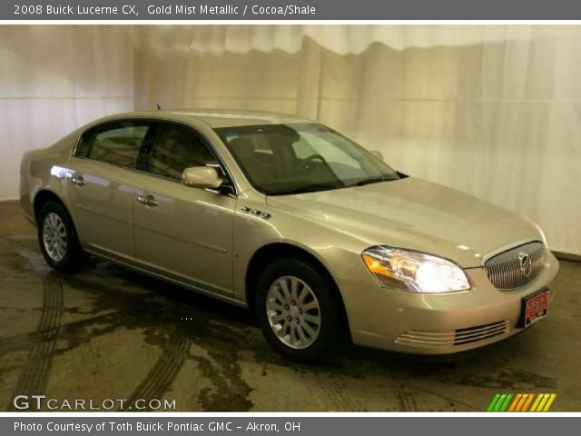 2008 Buick Lucerne CX in Gold Mist Metallic. Click to see large photo.