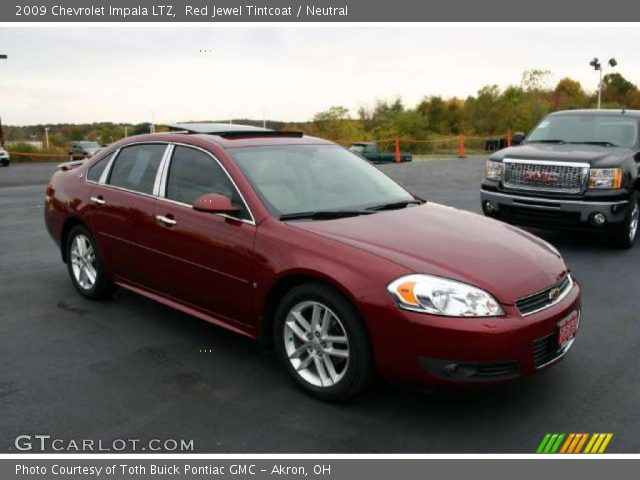 red jewel tintcoat 2009 chevrolet impala ltz neutral. Black Bedroom Furniture Sets. Home Design Ideas