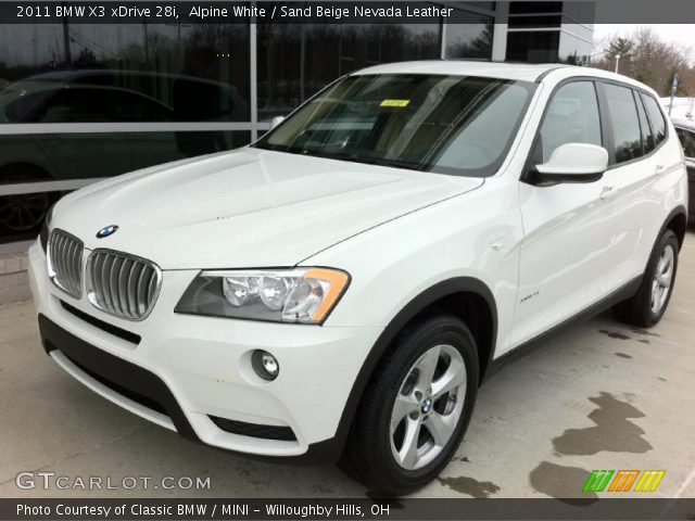 Alpine White 2011 Bmw X3 Xdrive 28i Sand Beige Nevada