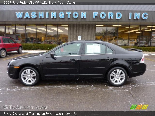 black 2007 ford fusion sel v6 awd light stone interior. Black Bedroom Furniture Sets. Home Design Ideas