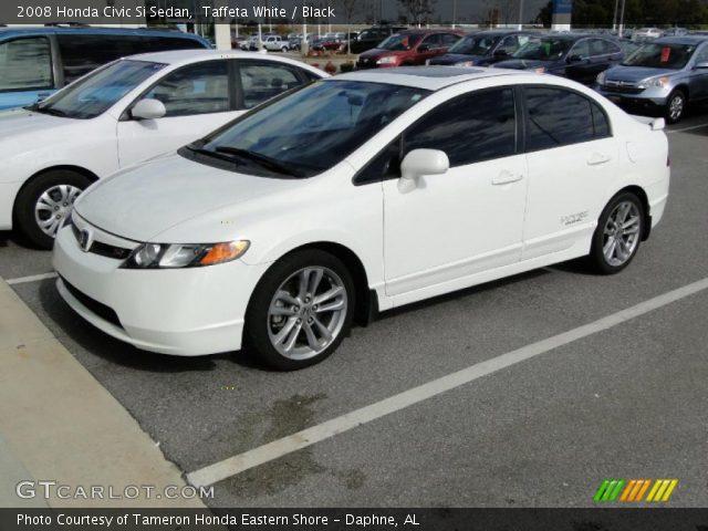Taffeta white 2008 honda civic si sedan black interior for Honda civic si white