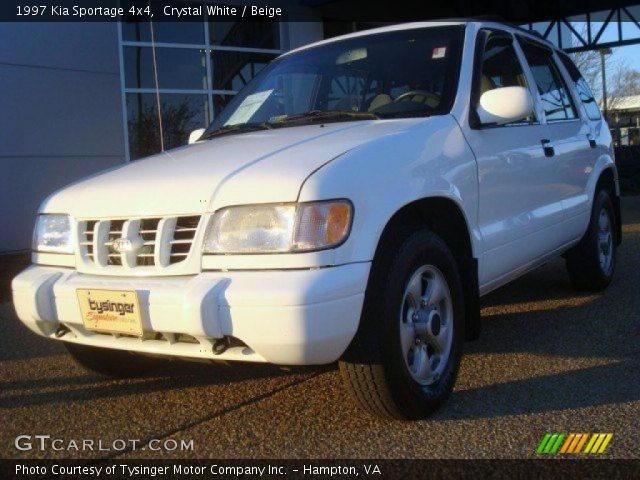 1997 Kia Sportage 4x4 in Crystal White