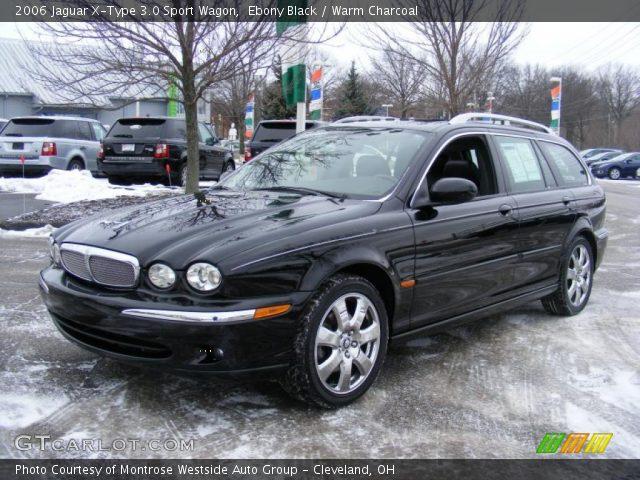 ebony black 2006 jaguar x type 3 0 sport wagon warm charcoal interior. Black Bedroom Furniture Sets. Home Design Ideas