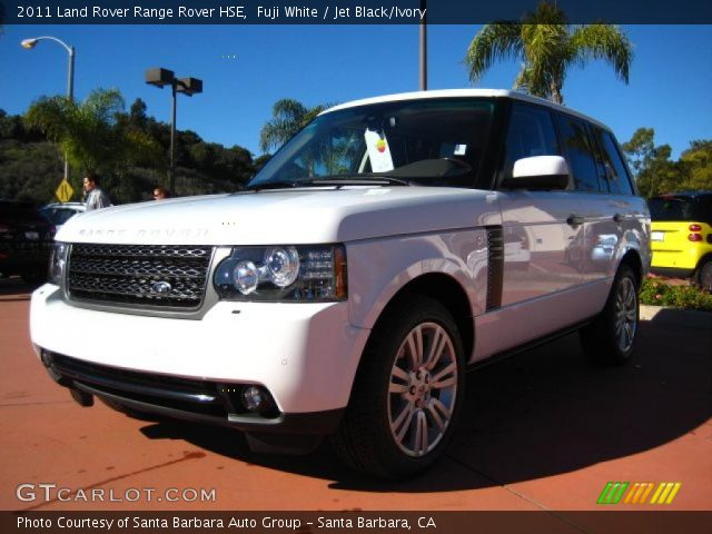 fuji white 2011 land rover range rover hse jet black ivory interior vehicle. Black Bedroom Furniture Sets. Home Design Ideas