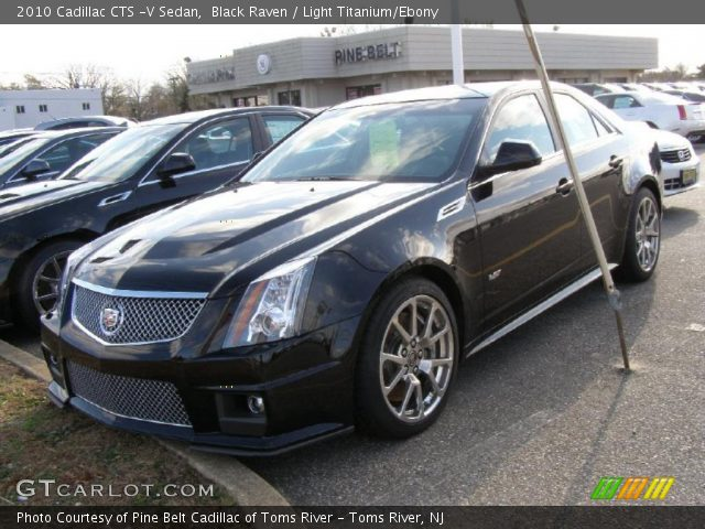 black raven 2010 cadillac cts v sedan light titanium. Black Bedroom Furniture Sets. Home Design Ideas