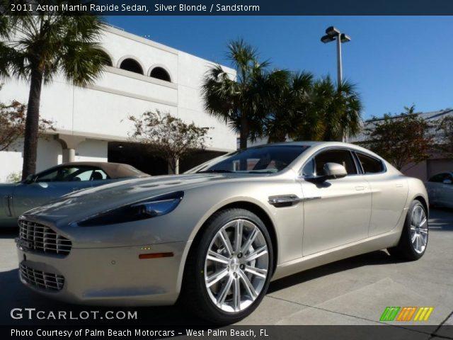 2011 Aston Martin Rapide Sedan in Silver Blonde
