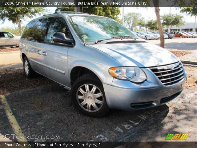 Butane Blue Pearl 2006 Chrysler Town & Country Touring with Medium Slate