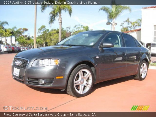 dolphin gray metallic 2007 audi a4 2 0t quattro sedan. Black Bedroom Furniture Sets. Home Design Ideas