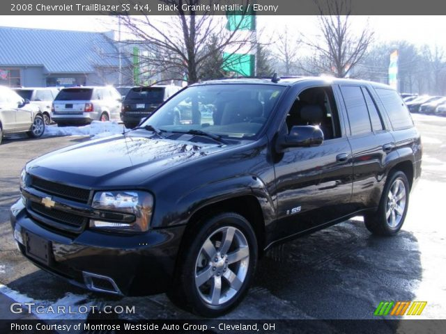 black granite metallic 2008 chevrolet trailblazer ss 4x4 ebony interior. Black Bedroom Furniture Sets. Home Design Ideas