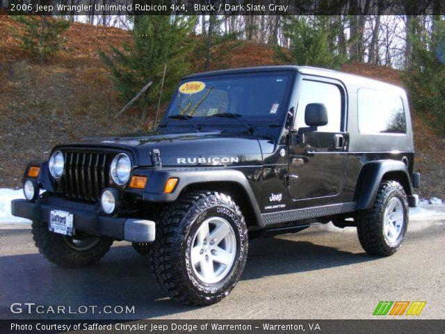 black 2006 jeep wrangler unlimited rubicon 4x4 dark slate gray interior. Black Bedroom Furniture Sets. Home Design Ideas