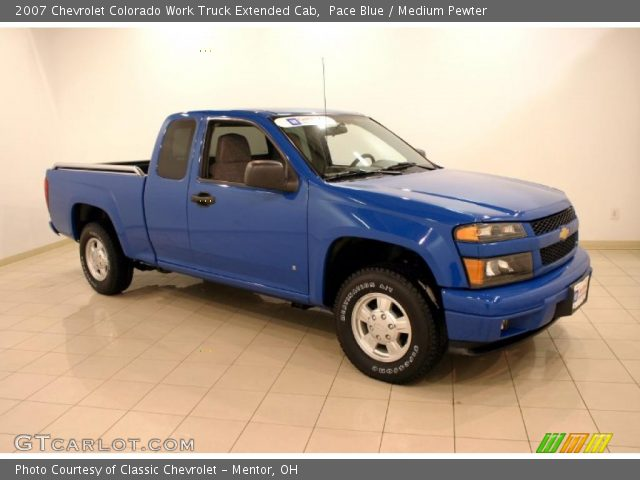 pace blue 2007 chevrolet colorado work truck extended. Black Bedroom Furniture Sets. Home Design Ideas