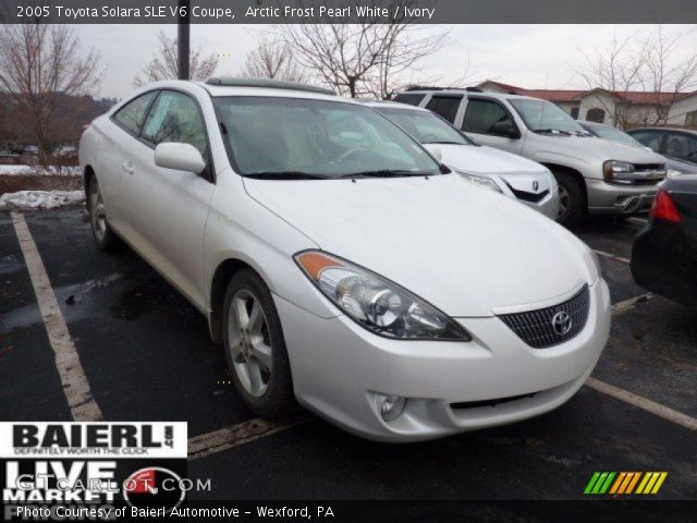 arctic frost pearl white 2005 toyota solara sle v6 coupe. Black Bedroom Furniture Sets. Home Design Ideas