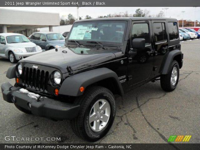 black 2011 jeep wrangler unlimited sport 4x4 black interior vehicle archive. Black Bedroom Furniture Sets. Home Design Ideas