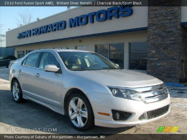 Brilliant Silver Metallic 2010 Ford Fusion Sport AWD with Charcoal Black/Sport Black interior 2010 Ford Fusion Sport AWD in Brilliant Silver Metallic