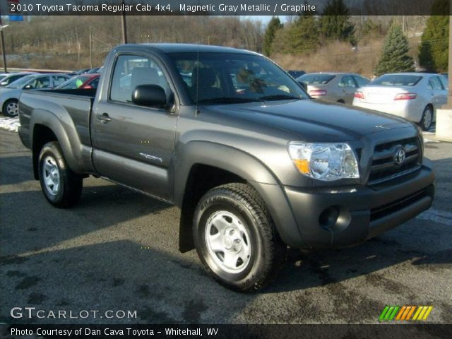 magnetic gray metallic 2010 toyota tacoma regular cab 4x4 graphite interior. Black Bedroom Furniture Sets. Home Design Ideas