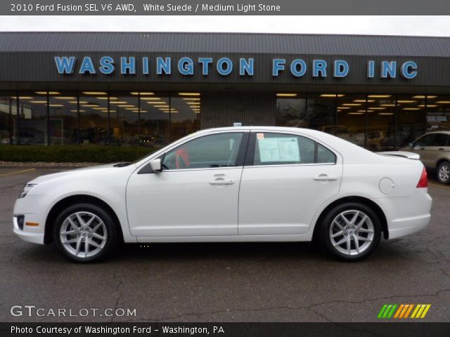 white suede 2010 ford fusion sel v6 awd medium light stone interior vehicle. Black Bedroom Furniture Sets. Home Design Ideas