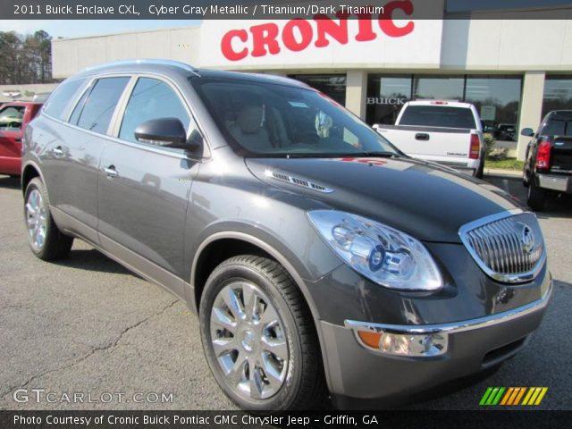 Cyber Gray Metallic 2011 Buick Enclave Cxl Titanium Dark Titanium Interior