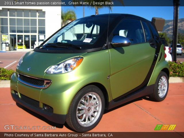 2011 Smart fortwo passion cabriolet in Green Matte