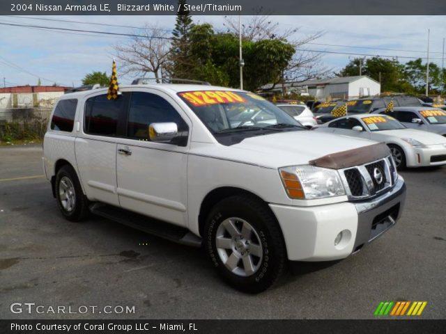 2005 Nissan Armada Sale Blizzard White - 2004 Nissan Armada LE - Steel/Titanium Interior ...