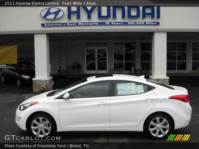 2011 Hyundai Elantra Limited in Pearl White