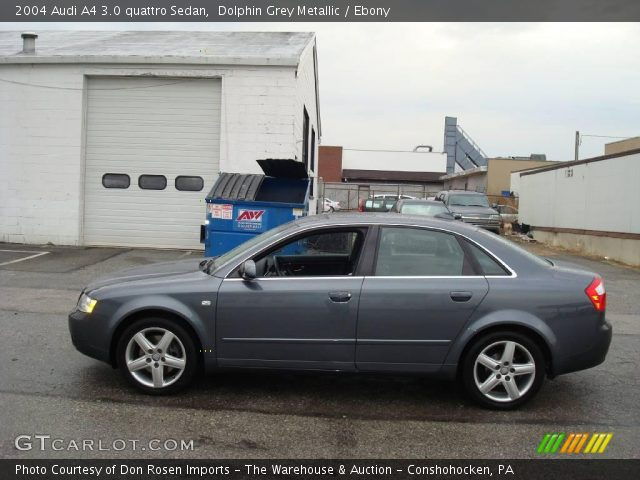 dolphin grey metallic 2004 audi a4 3 0 quattro sedan ebony interior vehicle. Black Bedroom Furniture Sets. Home Design Ideas