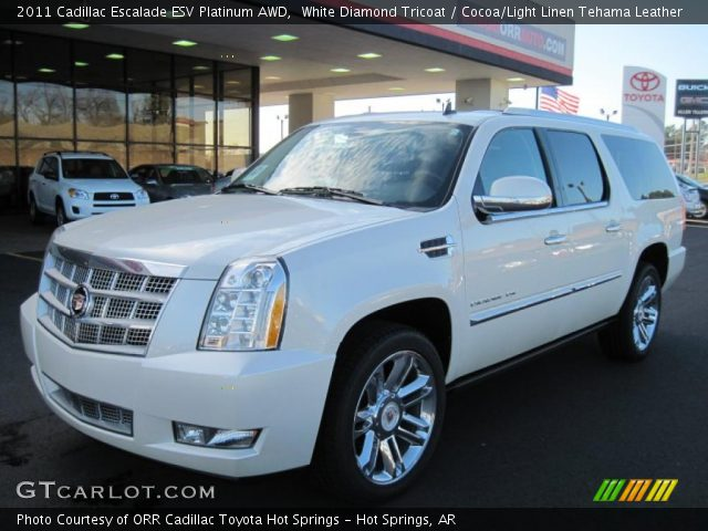 2011 Cadillac Escalade ESV Platinum AWD in White Diamond Tricoat