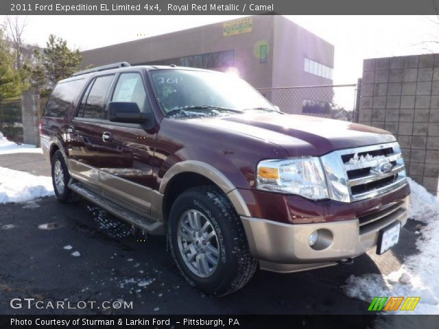 Royal Red Metallic 2011 Ford Expedition El Limited 4x4 Camel Interior