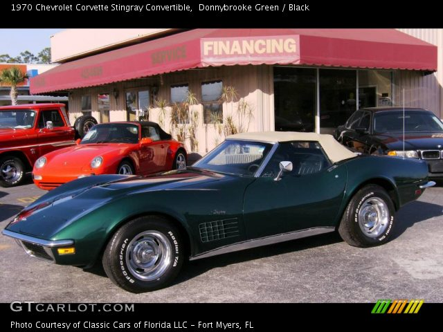 1970 Chevrolet Corvette Stingray Convertible in Donnybrooke Green