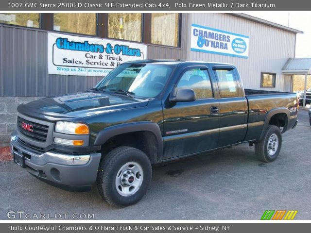 polo green metallic 2007 gmc sierra 2500hd classic sle. Black Bedroom Furniture Sets. Home Design Ideas