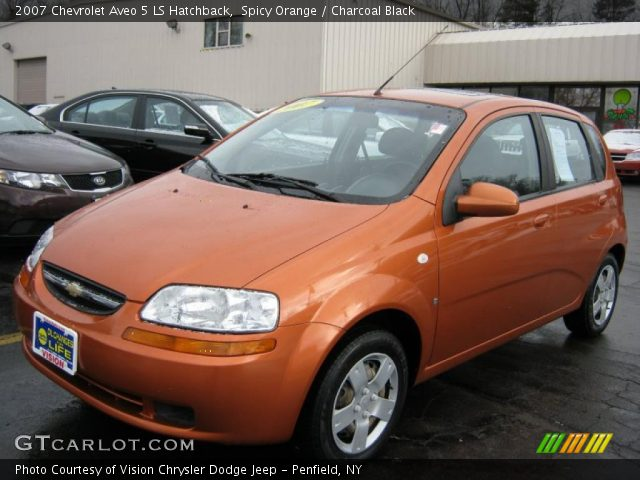 spicy orange 2007 chevrolet aveo 5 ls hatchback. Black Bedroom Furniture Sets. Home Design Ideas