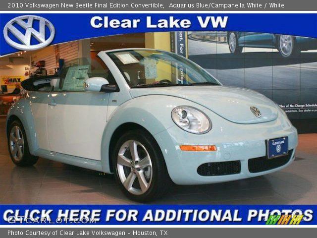 aquarius bluecampanella white  volkswagen  beetle final edition convertible white