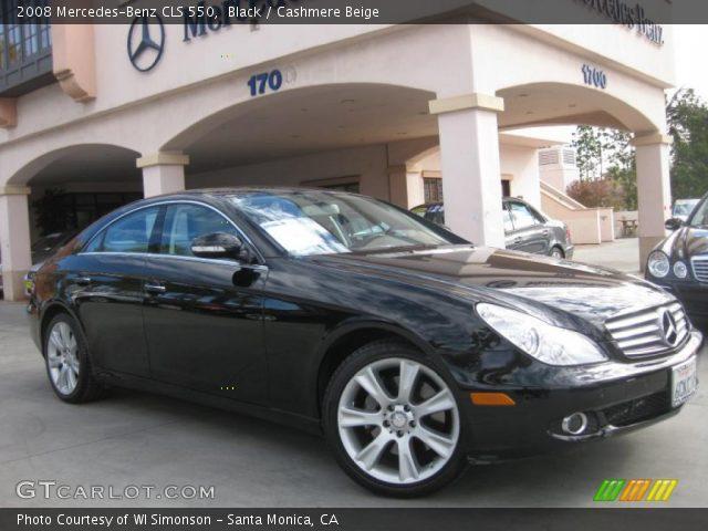 black 2008 mercedes benz cls 550 cashmere beige interior vehicle archive. Black Bedroom Furniture Sets. Home Design Ideas
