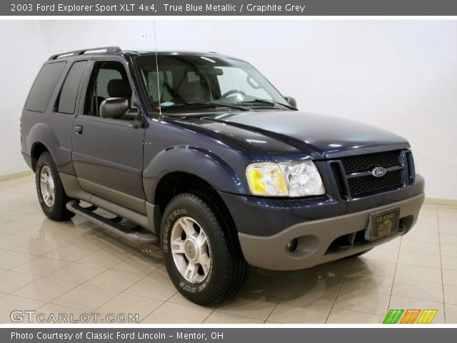 true blue metallic 2003 ford explorer sport xlt 4x4 with graphite grey. Cars Review. Best American Auto & Cars Review