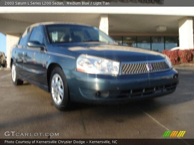 medium blue 2003 saturn l series l200 sedan light tan interior vehicle. Black Bedroom Furniture Sets. Home Design Ideas