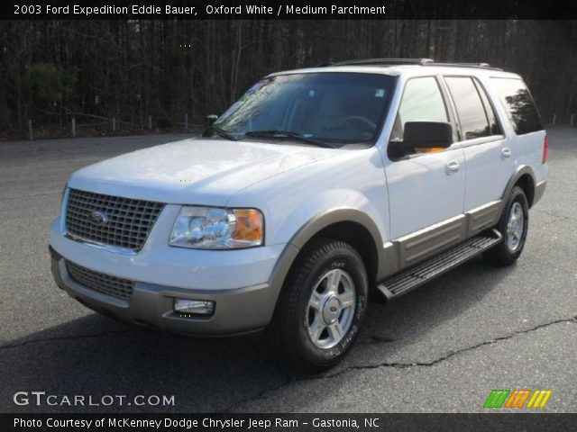 2003 Ford Expedition Eddie Bauer in Oxford White. Click to see large