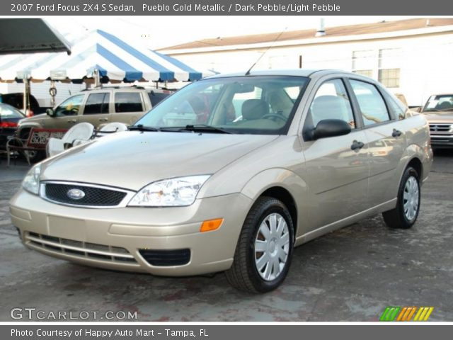 pueblo gold metallic 2007 ford focus zx4 s sedan dark. Black Bedroom Furniture Sets. Home Design Ideas