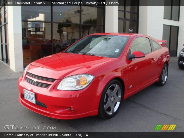 victory red 2006 chevrolet cobalt ss supercharged coupe ebony interior. Black Bedroom Furniture Sets. Home Design Ideas