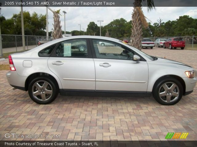 silver metallic 2005 volvo s40 t5 awd taupe light taupe interior vehicle. Black Bedroom Furniture Sets. Home Design Ideas