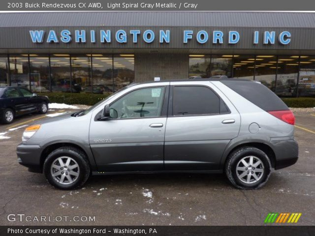 2003 Buick Rendezvous CX AWD in Light Spiral Gray Metallic