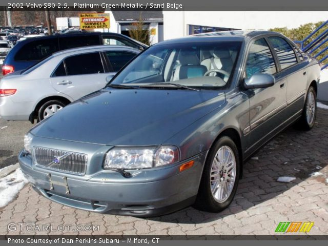 platinum green metallic 2002 volvo s80 2 9 sand beige. Black Bedroom Furniture Sets. Home Design Ideas