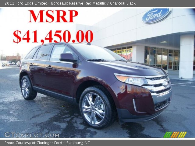bordeaux reserve red metallic 2011 ford edge limited. Black Bedroom Furniture Sets. Home Design Ideas