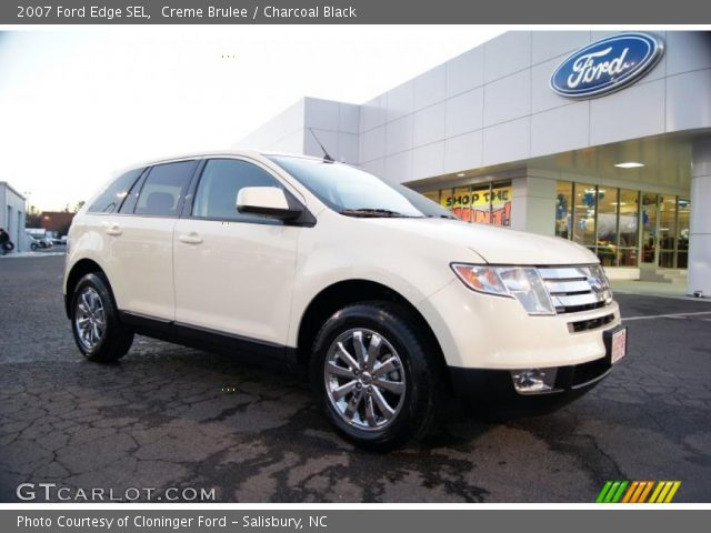 Creme Brulee 2007 Ford Edge Sel Charcoal Black Interior Vehicle Archive