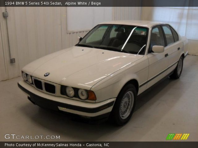 alpine white 1994 bmw 5 series 540i sedan beige. Black Bedroom Furniture Sets. Home Design Ideas