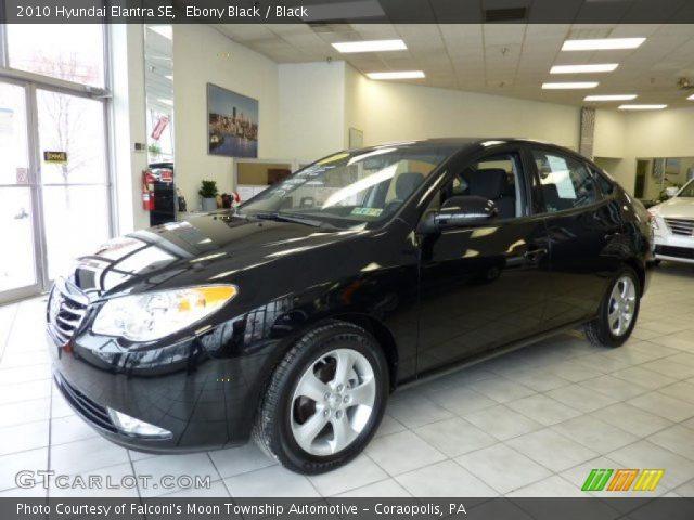 Ebony Black - 2010 Hyundai Elantra SE - Black Interior ...